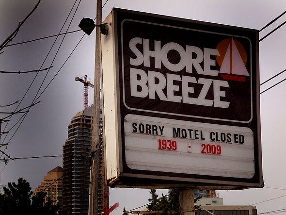 Shore Breeze sign
