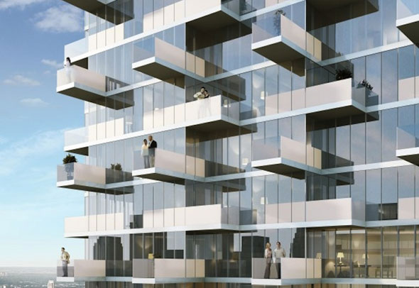 New in toronto real estate monde condominiums for Condo balcony design