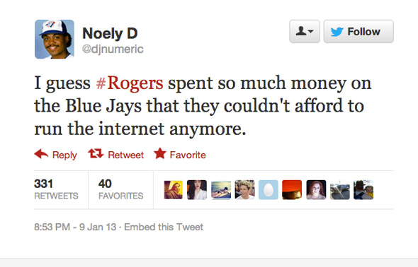 Rogers Internet Down