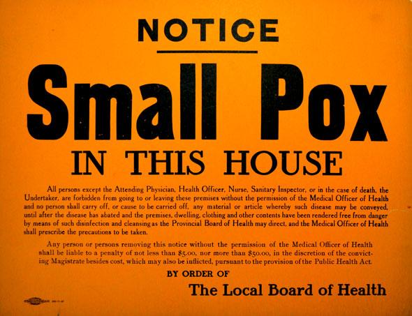 toronto smallpox
