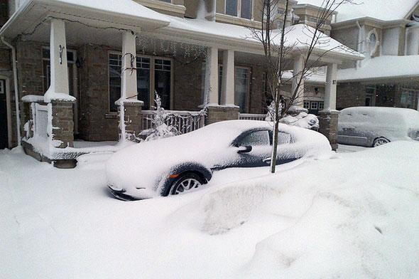 toronto snow slush