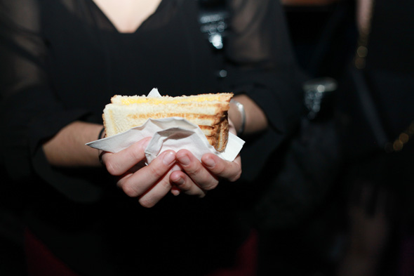 This bar serves up grilled cheese on the dance floor for Sandwiches on the dance floor