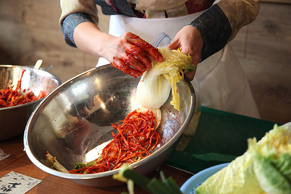 Image result for kimchi demonstration