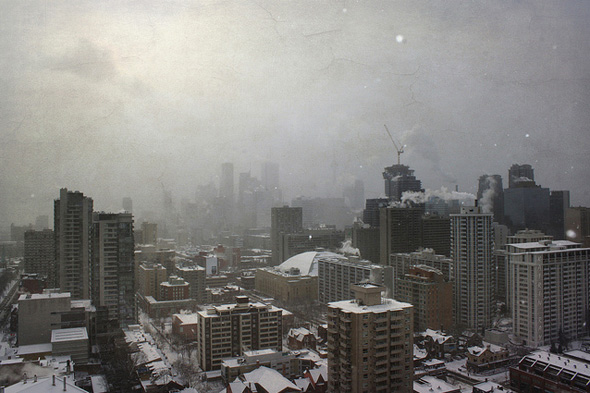 snowstorm Toronto