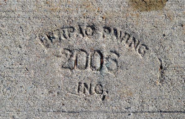 toronto sidewalk stamp