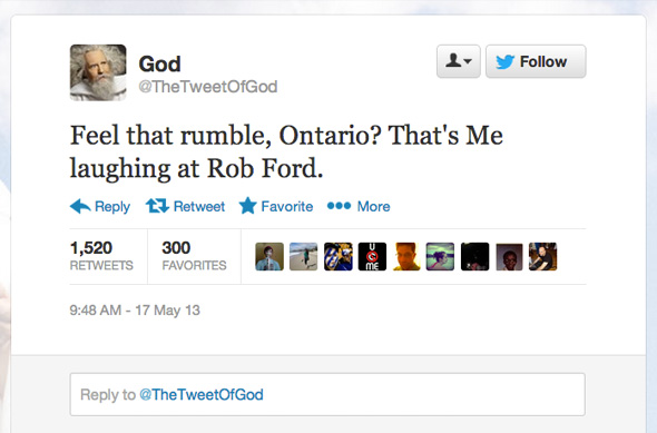 Rob Ford Twitter Crack