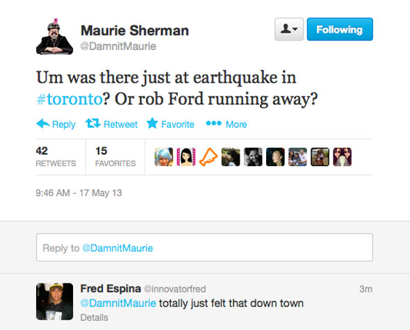 earthquake toronto