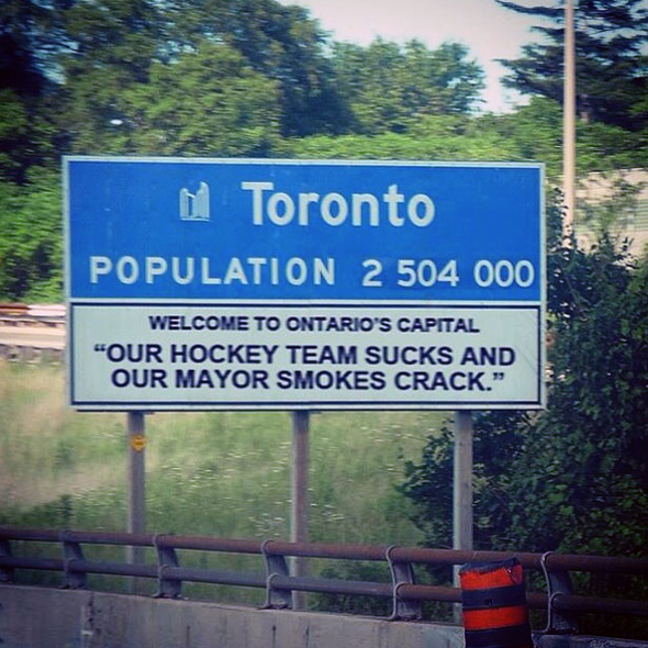Funny Ford Signs 10 rob ford funnies on