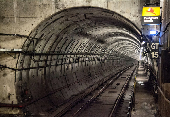 Subway tunnel Toronto