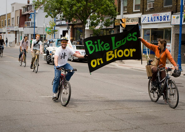 toronto bloor bike lane
