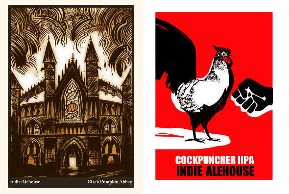Indie Alehouse Poster Art