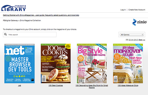 Toronto public library now offers free digital magazines