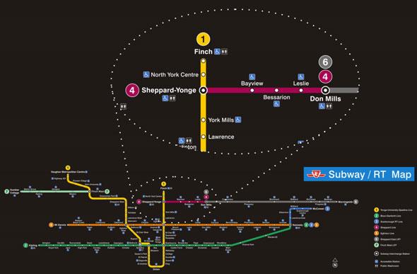 Toronto New Subway Map