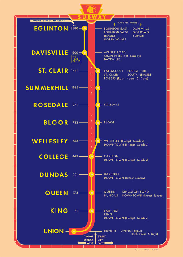 Toronto Subway Map Union Station.Toronto S News The Evolution Of The Ttc Subway Map