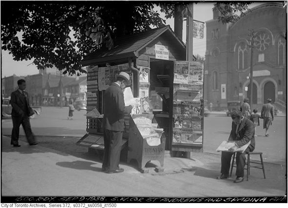 vintage newsstand toronto