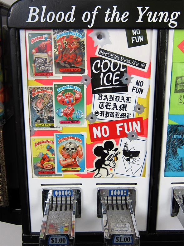 Blood of the Yung zine vending machine