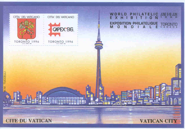 Toronto CN Tower Romanian stamp