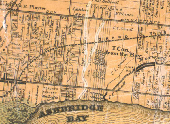 toronto ashbridge map