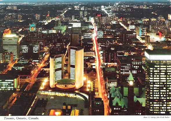 Toronto at night colour