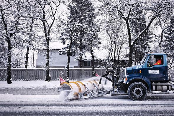 toronto snow plow
