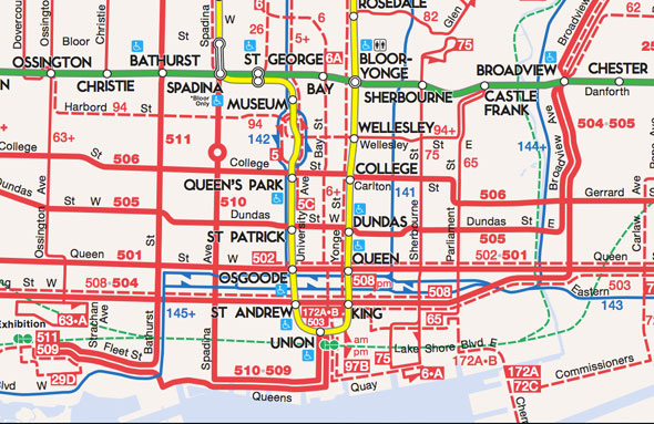 Toronto Bus And Subway Map.Events In Toronto Is The New Ttc System Map Easier To Read