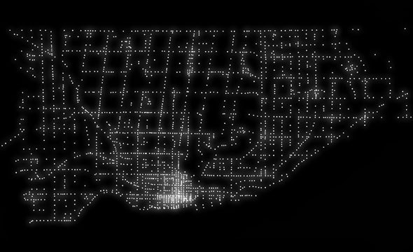 toronto traffic signals map
