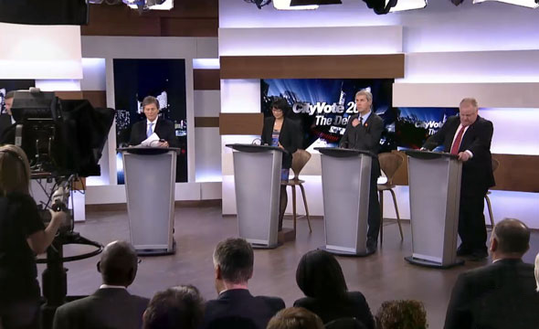 Toronto mayoral debate