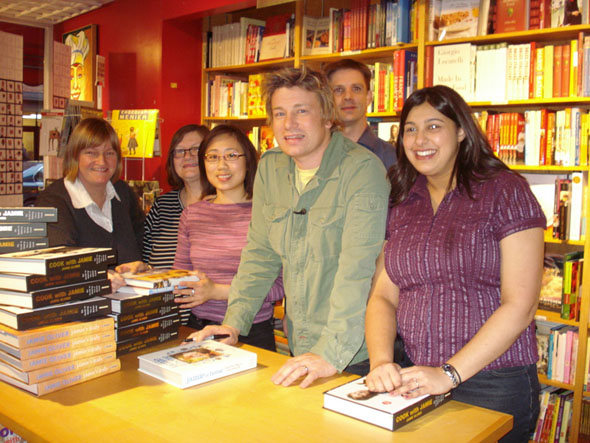 Jamie Oliver at the Cookbook Store