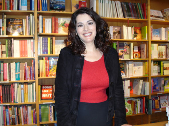 Nigella Lawson at the Cookbook Store