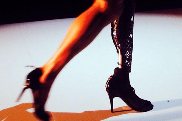 prosthetic leg fashion week