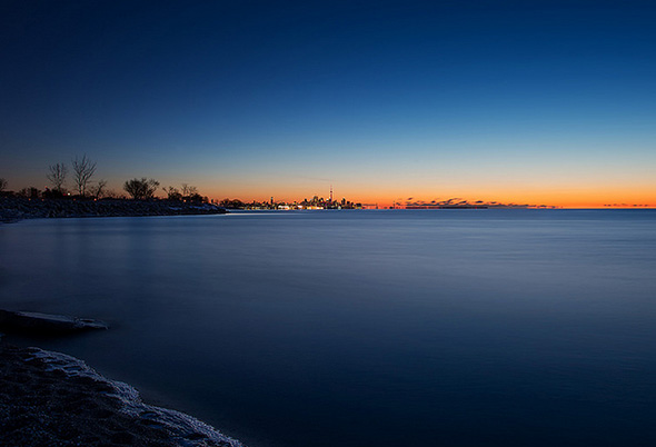 Toronto skyline morning