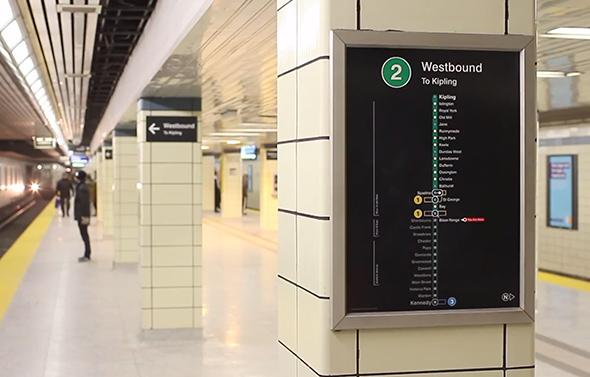 TTC signage bloor yonge station