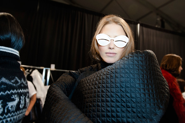 Backstage Fashion Week