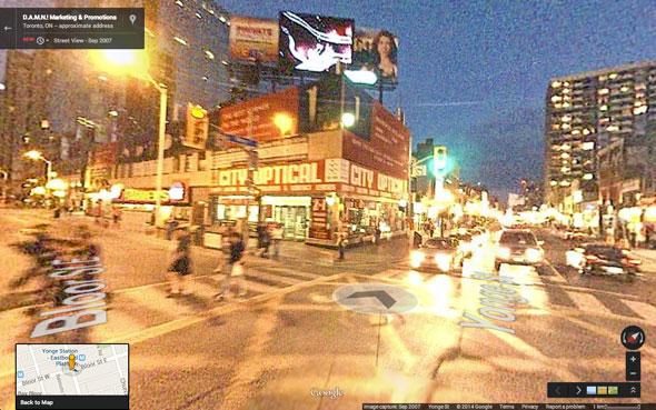 toronto google street view