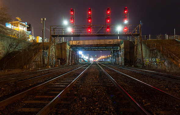 Dufferin Bridge Rail Tracks