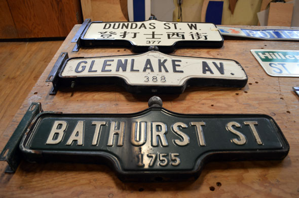 toronto street sign auction