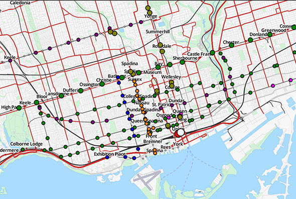 animated TTC map Toronto