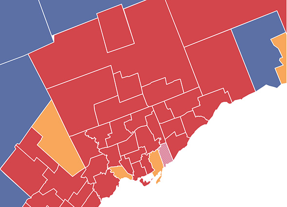 Ontario provincial elections results map