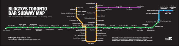 toronto bar subway map