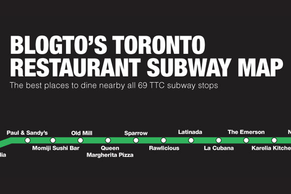 restaurants subway map
