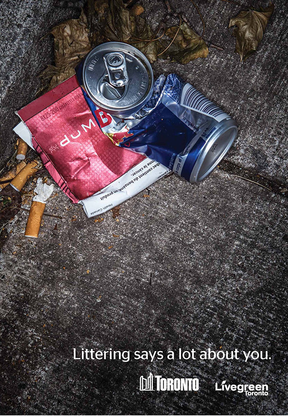 anti litter ad toronto