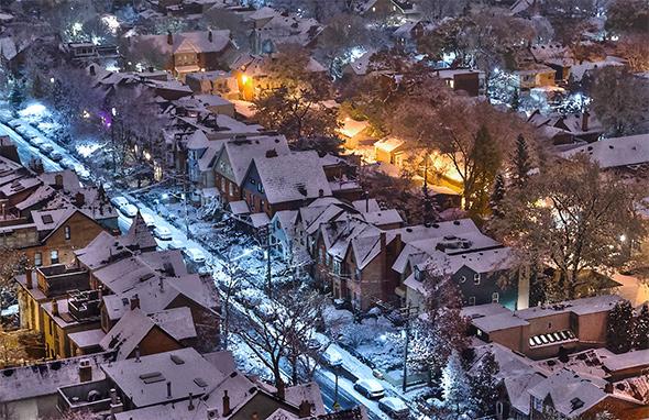 first snow toronto 2014
