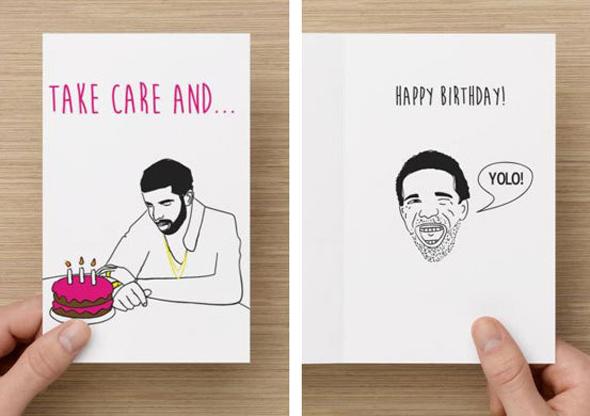 Stoner Birthday Cards gangcraftnet – Drake Birthday Card