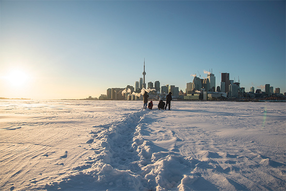 frozen harbour toronto
