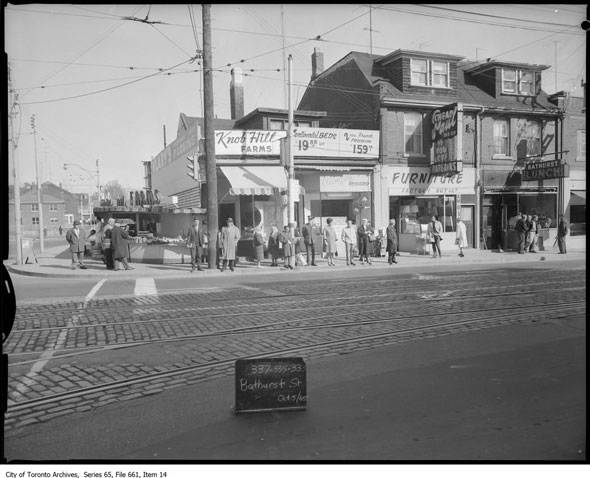 10 key toronto intersections as they were 50 years ago for Affordable furniture west st paul