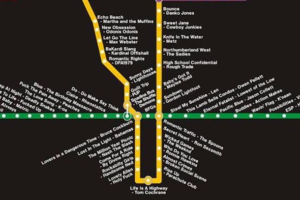 toronto music map