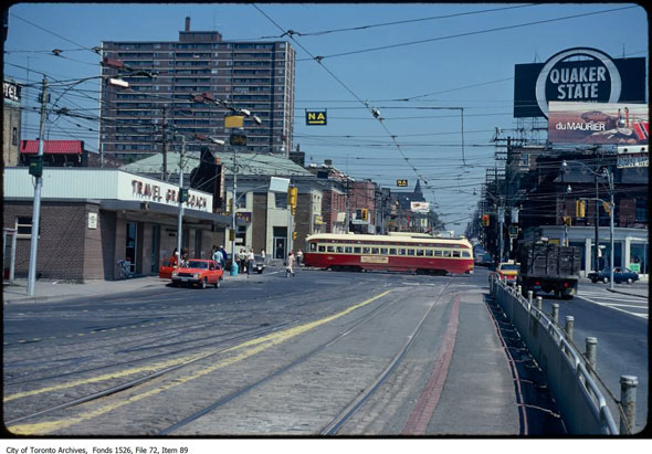 What the Queensway used to look like in Toronto