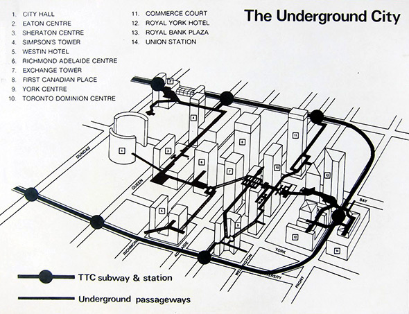 PATH map 1970s toronto