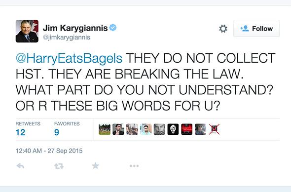 Twitter Jim Karygiannis