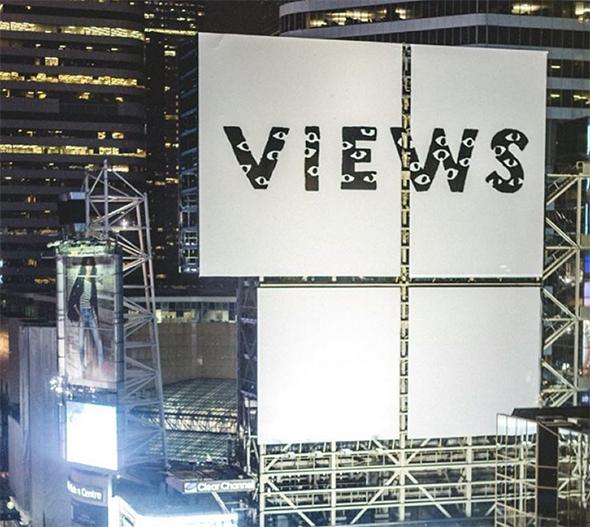 Drake views billboard